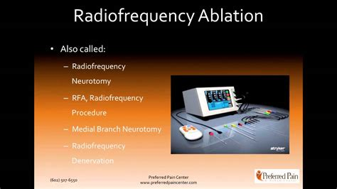 radiofrequency ablation radiofrequency neurotomy