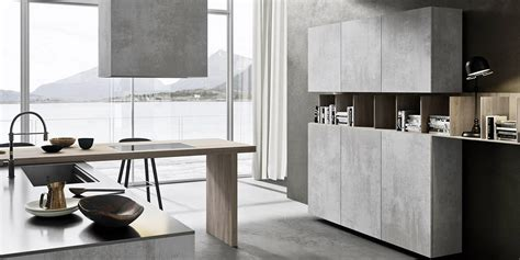 ceramic concrete textured kitchen doors