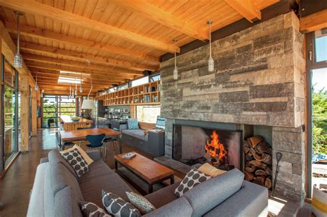 modern timber country cottage  georgian bay