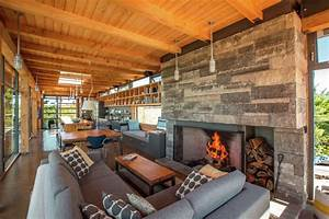 Modern timber country cottage in georgian bay for Interior design ideas georgian house