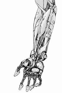 Illustration of a mechanical arm from the sci-fi manga ...