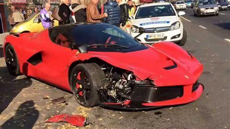 laferrari crash ferrari laferrari crash budapest 6 3l 12v 708 kw 950