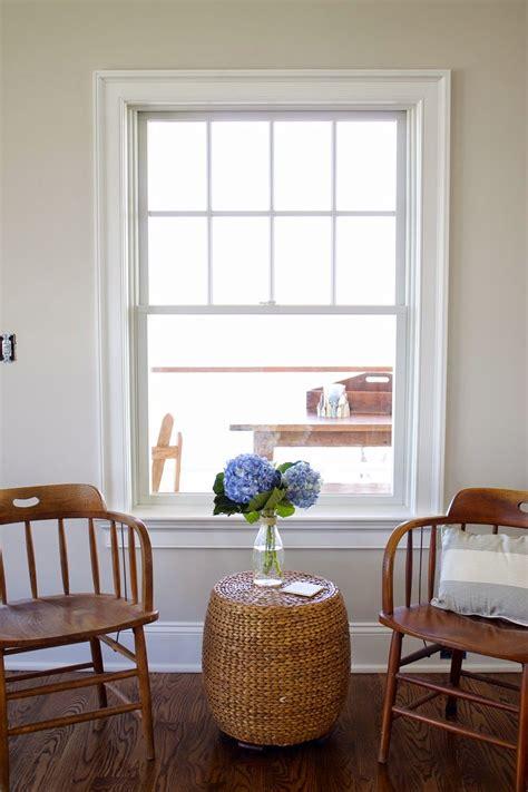 benjamin pale oak walls looks great with white trim