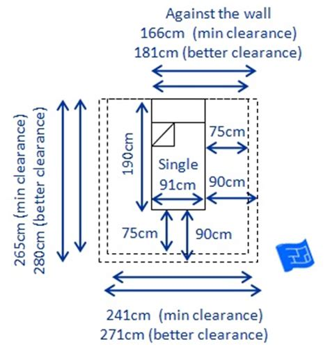 uk single bed size bed sizes and space around the bed