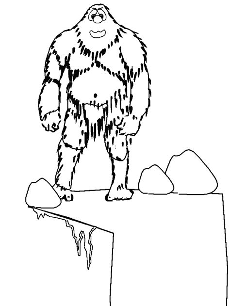 printable abominablesnowman winter coloring pages