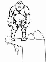 Coloring Pages Winter Yeti Abominable Snowman Colouring Printable Dessin Rocket Ship Rudolph Monster Print Fantasy Snow Et Drawing Cie Coloringpagebook sketch template