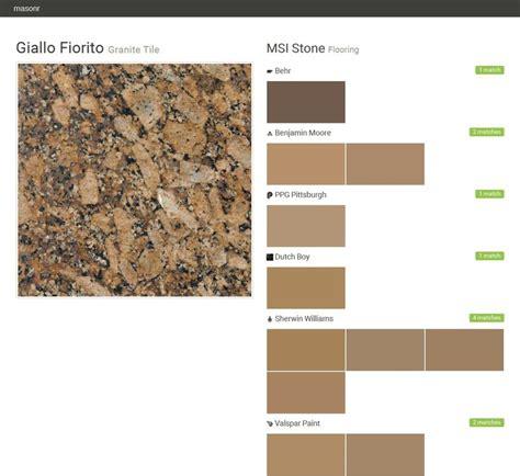 giallo fiorito granite tile flooring msi stone behr benjamin ppg pittsburgh