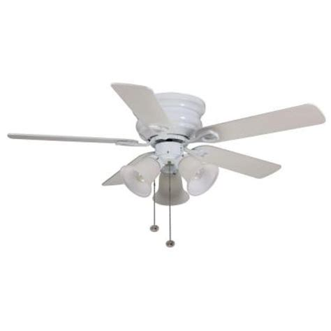 Hton Bay Clarkston 44 In White Ceiling Fan Cf544h Peh