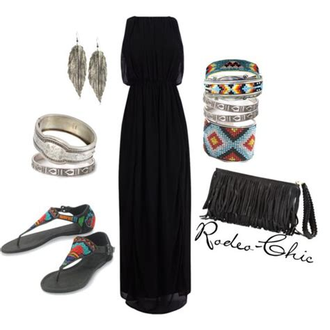 U0026quot;Indian Summeru0026quot; by rodeo-chic on Polyvore Aztec inspired Navajo native American beading ...
