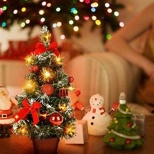 40cm, Tall, Battery, Powered, Luxury, Tabletop, Christmas, Tree, Hanging, Decorations, Pine, Tree, Battery
