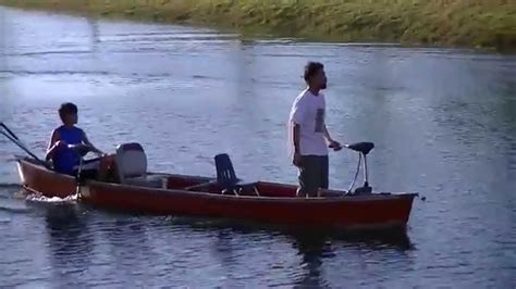 Electric Trolling Motor On A Canoe by 17 Canoe Two Trolling Motors Bow And Mount