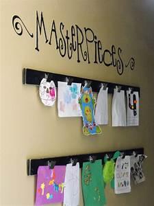 Diy kids art displays to make them proud kidsomania