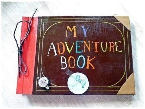 adventure book  journal art  bookbinding  cut