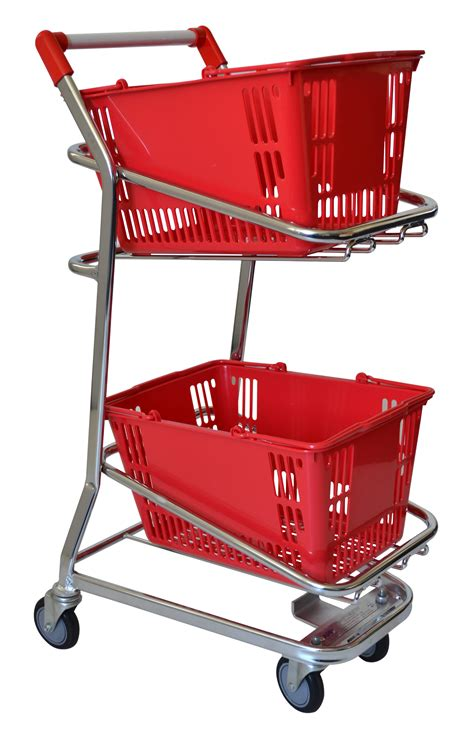 Supermarket Shopping Trolleys - Two Tier Basket Trolley 60 ...
