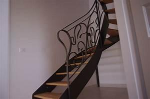 Escalier Metal Et Bois : escalier en m tal et marches en bois jean berson menuisier ~ Dailycaller-alerts.com Idées de Décoration