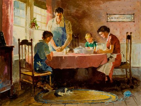 A Bright Home To Give A Family A Taste Of The by American Artist Saying Grace Days Of Days Of