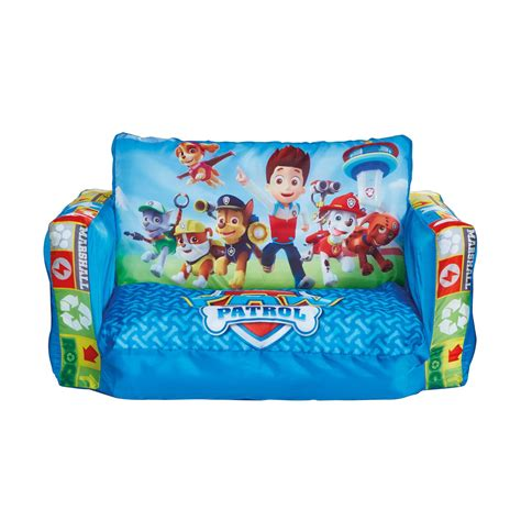Paw Patrol Flip Out Sofa Kids Blue Lounger Seat Extends