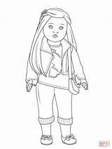 Coloring Doll Cartoon American Popular sketch template