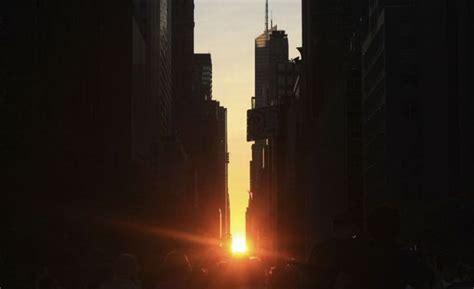 My Funny Weird Sun Over New York City Manhattanhenge