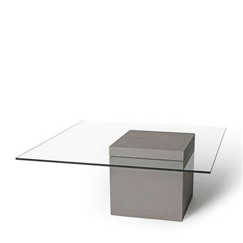 table basse carr 233 e en verre et b 233 ton verveine by drawer
