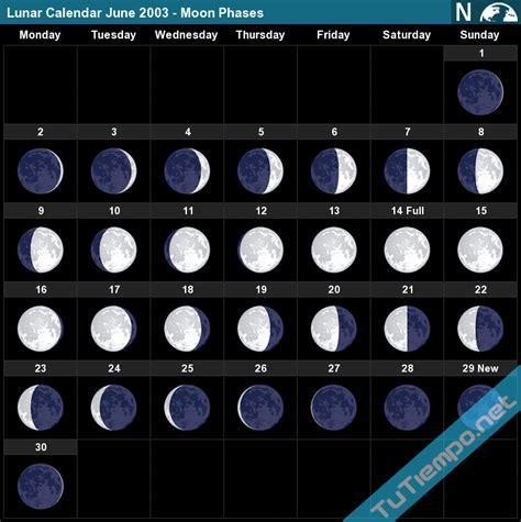 lunar calendar june  moon phases