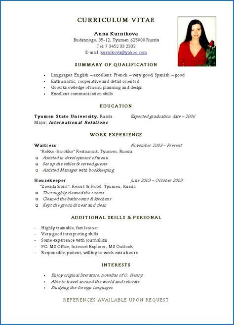Basic Resume by Resume Template Basic Resume For Tjhtta