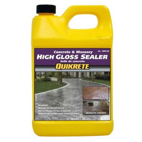 high gloss marble sealer quikrete concrete and masonry 5 lb high gloss sealer q084 the home depot