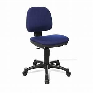 Chaise De Bureau Bleu : chaise de bureau enfant contemporaine en tissu bleu moon ~ Teatrodelosmanantiales.com Idées de Décoration