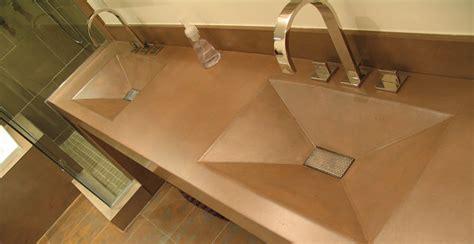 concrete countertop and sink integral concrete bathroom sinks cheng concrete exchange