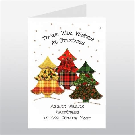 wee wishes scottish christmas card christmas