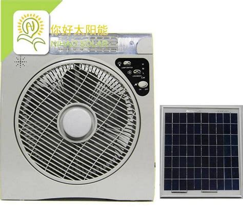 solar powered portable fan china solar fan with led l ac dc rechargeable portable