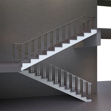 Home Design 3d Stairs by Stair Stainless 3d Model Turbosquid 1295502