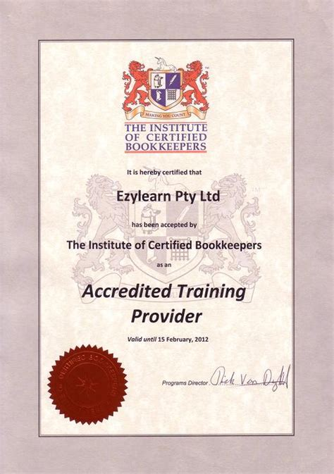 certification courses bookkeeper ezylearnonline courses