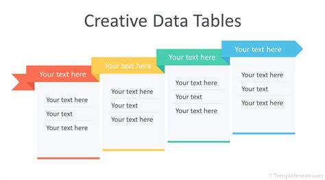 creative data tables  powerpoint