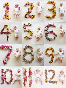 creative monthly baby picture ideas child at