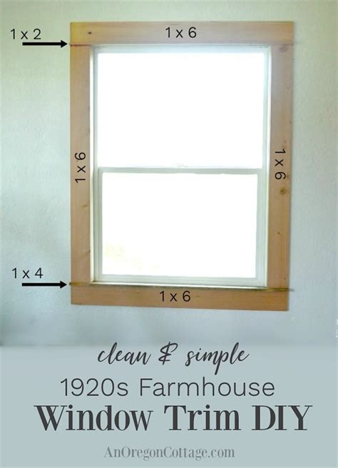 clean simple 1920s farmhouse window trim diy an oregon cottage