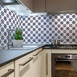 Stickers Carreaux De Ciment Cuisine : 30 stickers carreaux de ciment azulejos milo cuisine ~ Melissatoandfro.com Idées de Décoration