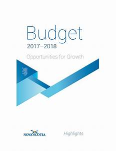 Budget documents government of nova scotia canada for Budget documents 2017
