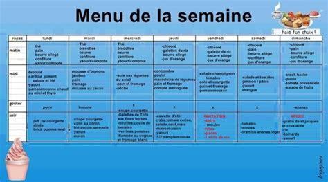 menu semaine cuisine az menu équilibré semaine facile cuisinez pour maigrir