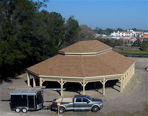 customers photo   treated pine double roof gazebo
