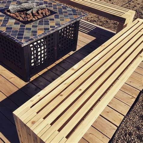 Diy Patio Bench Plans by White Green Roof Patio Benches Diy Projects