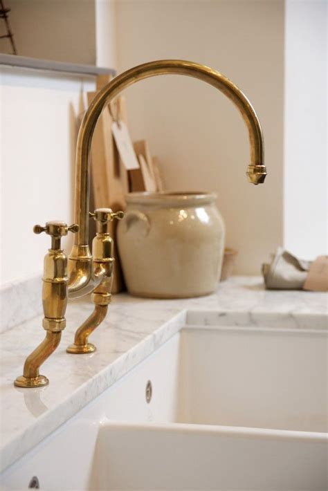 the perfect antique brass tap by deVOL   Kitchens