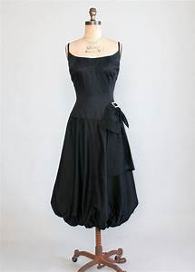 Vintage 1950s Edith Flagg Black Cocktail Dress