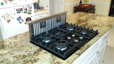 granite kitchen island countertop  gas glass cooktop jimhickscom yorktown virginia