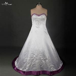 rsw879 plus size wedding dress embroidery beaded satin With lavender plus size wedding dresses