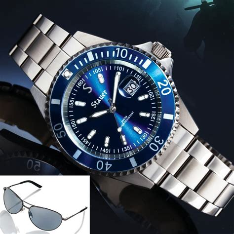 Blue Dive Watches - excursion dive plus free flyboy sunglasses 33499