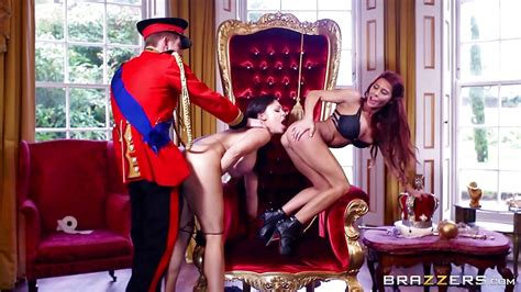 Right Royal Threesome With Aletta Ocean And Madison Ivy