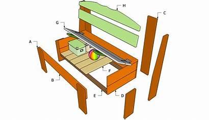 Bench Plans Storage Outdoor Woodworking Wood Wooden