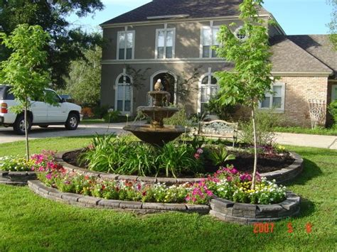 water for front yard front yard center garden w fountain after hurricane katrina took down our three mature oak