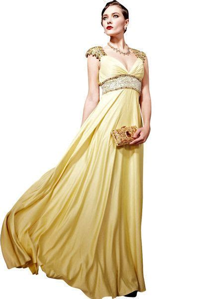 evening gowns gold jeweled empire evening dress 56696 empire